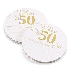 50th Anniversary Glitter Advice Coaster