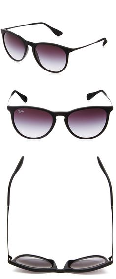 RAY-BAN WOMEN'S ERIKA WAYFARER SUNGLASSES-------------Colors Available : Black Frame/Gray Gradient Lens, Tortoise Frame/Brown Gradient Lens, Black Frame Polarized G15 Lens, Black Metal Frame / Grey Gradient Lenses and Mirror Blue------------ Resin/Plastic Frame.------------ Plastic frame------- Synthetic lens------------ non-polarized------------ UV400 Lens 100% UV protection coating------ Best Sunglasses for your face shape----- Cool,Vintage and Designer------ Great Sunglasses wearable