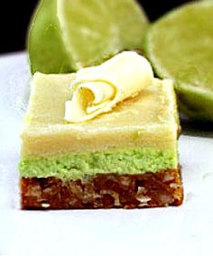 Easy, No-Bake White Chocolate Key Lime Bars with a Buttery, Coconut Macadamia Graham Cracker Crust #food #yummy #delicious