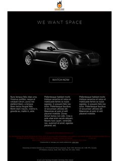 """""""We Want Space"""" - Exclusive Canvas template for email marketing - editable - No html skill required - No Photoshop needed Email Marketing Design, Travel Chic, No Photoshop, Newsletter Templates, Design Inspiration, Space, Canvas, Display, Tela"""