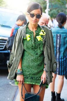 loving this green color... try various shades of the same spectrum together