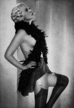1920's Berlin Cabaret Girl-Black and White print - Multiple Sizes [730-011