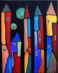 Neighborhood Watch - - by Thomas C. Fedro from Pop Art Gallery Frida Art, Building Art, Art Moderne, Art Portfolio, Whimsical Art, Painting For Kids, Painting Inspiration, Folk Art, Modern Art