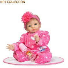 89.26$  Buy here - http://alidnp.shopchina.info/go.php?t=32808159489 - NPK COLLECTION Reborn Babies Boneca Dolls Baby Alive Toys for Girls Gifts,20 Inch 55CM Silicone Reborn Baby Dolls Brinquedos  #aliexpressideas