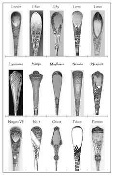 19th century silver flatware patterns pictorial compilation.  sc 1 st  Pinterest : antique silver plated flatware value - pezcame.com