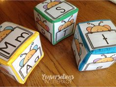 Love these Cubes for ABC Letter Activities!!