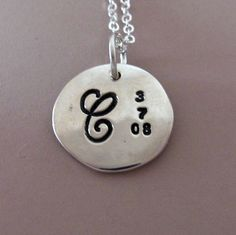 """Sterling Silver Mother's Necklace - 1/2"""""""