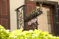 Hotel Restaurant Lohspeicher in Cochem, Germany (a charming town on the Mosel River).  Great location, comfy rooms, outstanding cuisine and we really liked the owners, Ingo & Birgit.