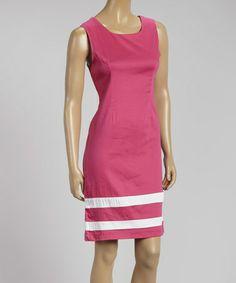 Love this Fuchsia Stripe Sleeveless Sheath Dress by AA Studio on #zulily! #zulilyfinds