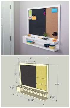cool DIY Message Center :: Find the FREE PLANS for this project and many others at bu. Creation Deco, Diy Furniture Plans, Furniture Projects, Building Furniture, Wood Furniture, Modern Furniture, Diy Holz, My Room, Home Organization