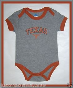 Licensed Texas Longhorns Baby Boy 2pk Bodysuit Orange//White Size 6//9 Months