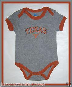NWT NCAA UT Texas Longhorn Onesie Baby Boy/Girl Onesie-Gray/Burnt Orange -6-9 mo - Re-list April 9, 2013 - Sold April 16, 2013