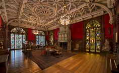 The Gothic Room in Marblehouse was modeled after Alva's pre-existing collection of Gothic art.