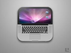 MacBook Pro iOS Icon....... How cute its a mini laptop that's adorable!!!!!!!!!!! :)