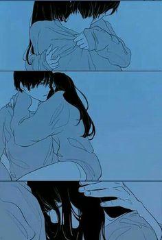 Anime Sexy, Dark Anime, Anime Couples Drawings, Anime Couples Manga, Manga Anime, Kawaii Anime, Anime Negra, Anime Couple Kiss, Manga Couple