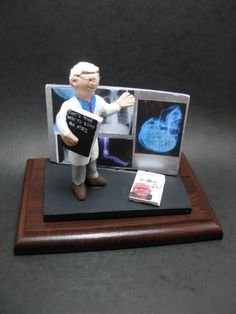 Personalized Neurologist's Gift, Custom Made Doctor's Figurine - Neurology Graduation Gift - Neurosurgery Figurine - Brain Doctor's Gift Christmas Gift For Dad, Personalized Christmas Gifts, Magic Mud, Custom Made Gift, Gifts For Dentist, Doctor Gifts, Clay Figurine, You Are Awesome, Birthday Gifts