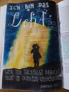 Licht der Welt   Bible Art Journaling
