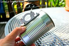 Make your own bike cup holder using an empty can. Decoupage with images for…