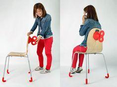 """Wind-up Chair, uma cadeira de """"dar corda"""" que recarrega celular"""