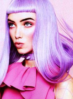 Grace Hartzel by Jason Kibbler for Teen Vogue December 2012 #purple #bang #hair