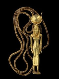 Pendant representing the goddess Isis ~ 21st dynasty ~ Third intermediate period.