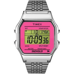 Timex Originals Timex 80 Watch ($75) ❤ liked on Polyvore featuring jewelry, watches, gold, digital wrist watch, timex watches, timex, digital wristwatch and gold wrist watch