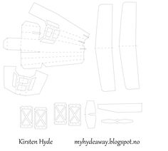 My Craft and Garden Tales: Pop-up plane with template