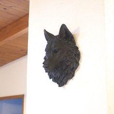 Beautiful black wolf faux taxidermy from Near and Deer www.nearanddeer.com