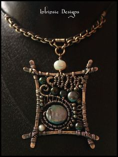 Organic+Wire+Wrapped+Solid+Bronze+&+Copper+Pendant+by+CathyHeery,+$60.00: