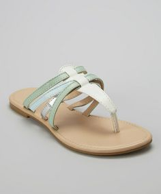 This Mint & Light Blue Strap Sandal is perfect! #zulilyfinds