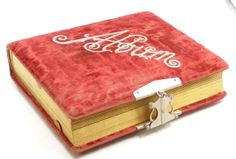 257 victorian red velvet photo album antique victorian photo album ...