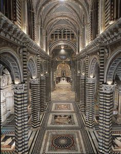 Siena Cathedral, Tuscany, Italy - apparently, the marble and mosaics are breathtaking. Siena was one of the few places in Tuscany we didn't visit Places Around The World, The Places Youll Go, Cool Places To Visit, Places To Travel, Places To Go, Travel Destinations, Amazing Architecture, Art And Architecture, Religious Architecture