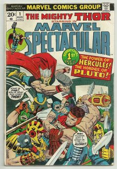 1973 MARVEL SPECTACULAR #1 THOR HERCULES VG FREE SHIPPING!!