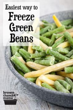 Quickly freeze green beans without blanching! These easy instructions save you time and give you green beans with the best color, texture, and nutrition. Can Green Beans, Cooking Green Beans, Frozen Green Beans, Freezing Green Beans, Real Food Recipes, Healthy Recipes, Healthy Foods, Green Bean Recipes