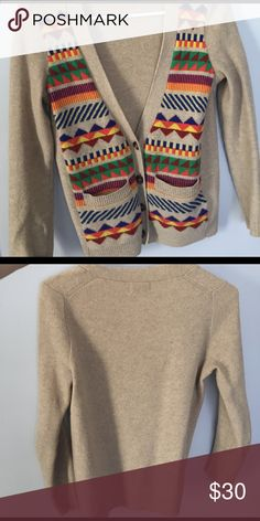 Wallace (Madewell) wool cardigan This cardigan is a darling mix of colors, which pairs well with jeans, skirts, dresses, etc., and transitions well throughout all seasons. Loved, but in excellent condition. Madewell Sweaters Cardigans