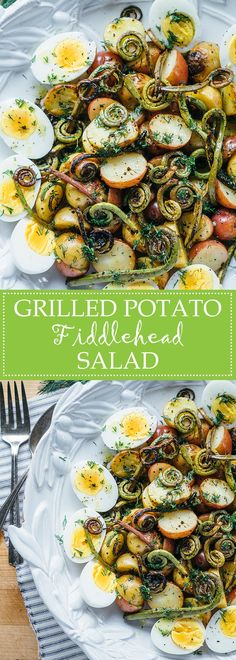 Grilled Potato Fiddlehead Salad   www.thetableofcontents.co
