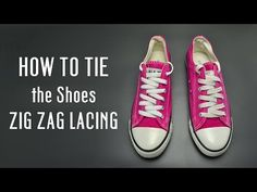 How to tie the shoes ZIG ZAG lacing - YouTube