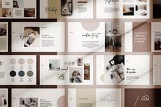 Kymila - PowerPoint Brand Template by bilmaw creative Web Design, Design Blog, Graphic Design, Design Ideas, Design Inspiration, Design Layouts, Slide Design, Modern Design, Microsoft Powerpoint 2007