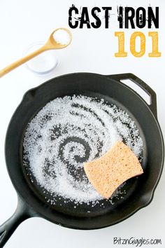 Great tips for seasoning and caring for your cast iron skillet!