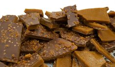 Toffee... We make almond butter toffee and bacon butter toffee. Both are addictive and delicious