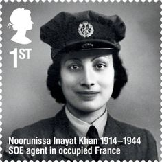British Stamp - Remarkable Lives series of British Stamps - As an SOE (Special Operations Executive) agent during the Second World War, she became the first female radio operator to be sent from Britain into occupied France to aid the French Resistance. Great Women, Amazing Women, Gorgeous Women, Royal Mail Stamps, Brave, George Cross, Alec Guinness, History Magazine, Muslim Women