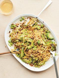 Avocado & Coconut Noodles With Edamame Beans, Lime & Ginger Noodle Recipes, Bean Recipes, Veggie Recipes, Vegetarian Recipes, Dinner Recipes, Healthy Recipes, Recipes With Edamame Beans, Frozen Edamame Recipe, Best Avocado Recipes