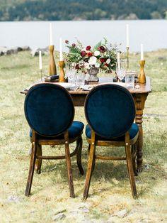 Vintage Elopement Sweetheart Table