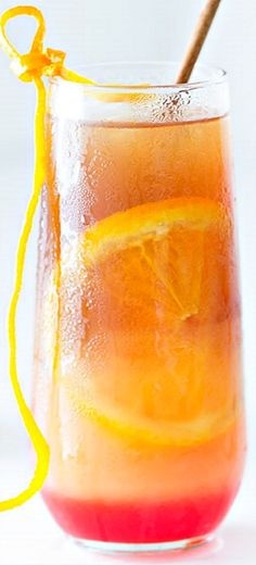 Tropical Fruit Punch Iced Tea - the layered look makes it party-chic!