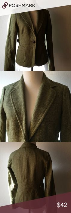 """J.crew wool blazer Excellent condition,wore once ,the size tag was taken off ,bust is 36""""length22"""" J. Crew Jackets & Coats Blazers"""