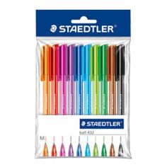 Staedtler ball 432 color pens - my favorite color pens for my Filofax - they do not bleed through