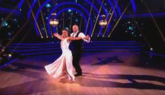 Randy Couture and Karina Smirnoff dancing on our beautiful floor. Dancing with the Stars has chosen our floor for all 19 Seasons! https://dancevision.com/store/dance-floor/DF/