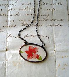 vintage hanky necklace