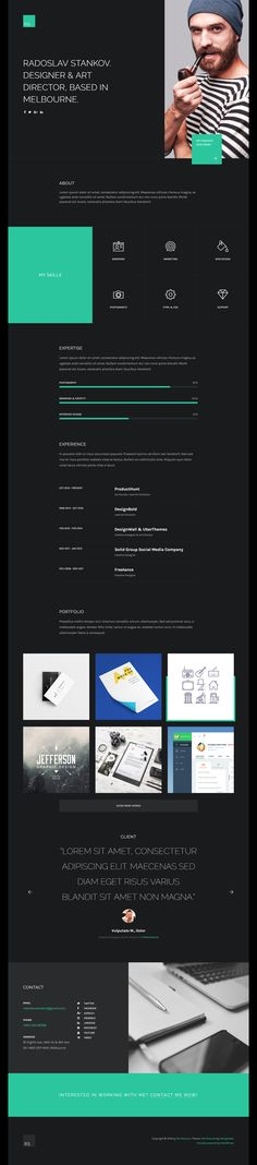 DW Resumé is an outstanding WordPress theme developed by DesignWall. The one-and-only page CV / Portfolió / Resumé WordPress comes with a powerful technique of design, elegant aesthetic taste, and distinctive typography. It perfectly fits all personal websites such as resume, portfolio or CV (Curriculum Vitae). Using an asymmetric, flat and minimalist design, DW Resumé helps you to attract the viewers' attention at first sight.