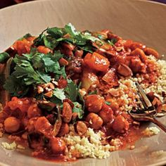 Spicy Moroccan Chickpeas Recipe | CookingLight.com